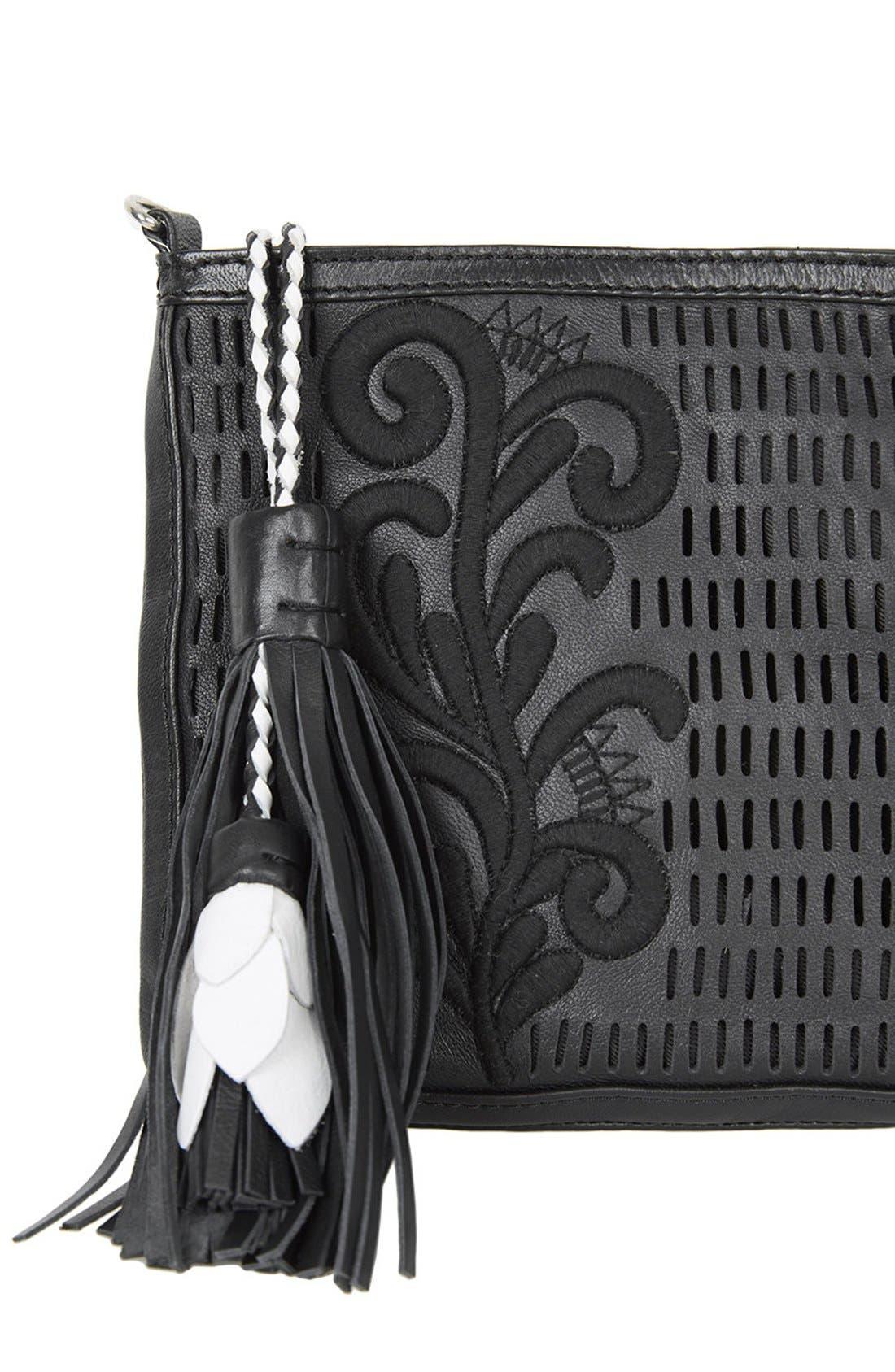 Alternate Image 4  - Topshop Floral Tassel Crossbody Bag