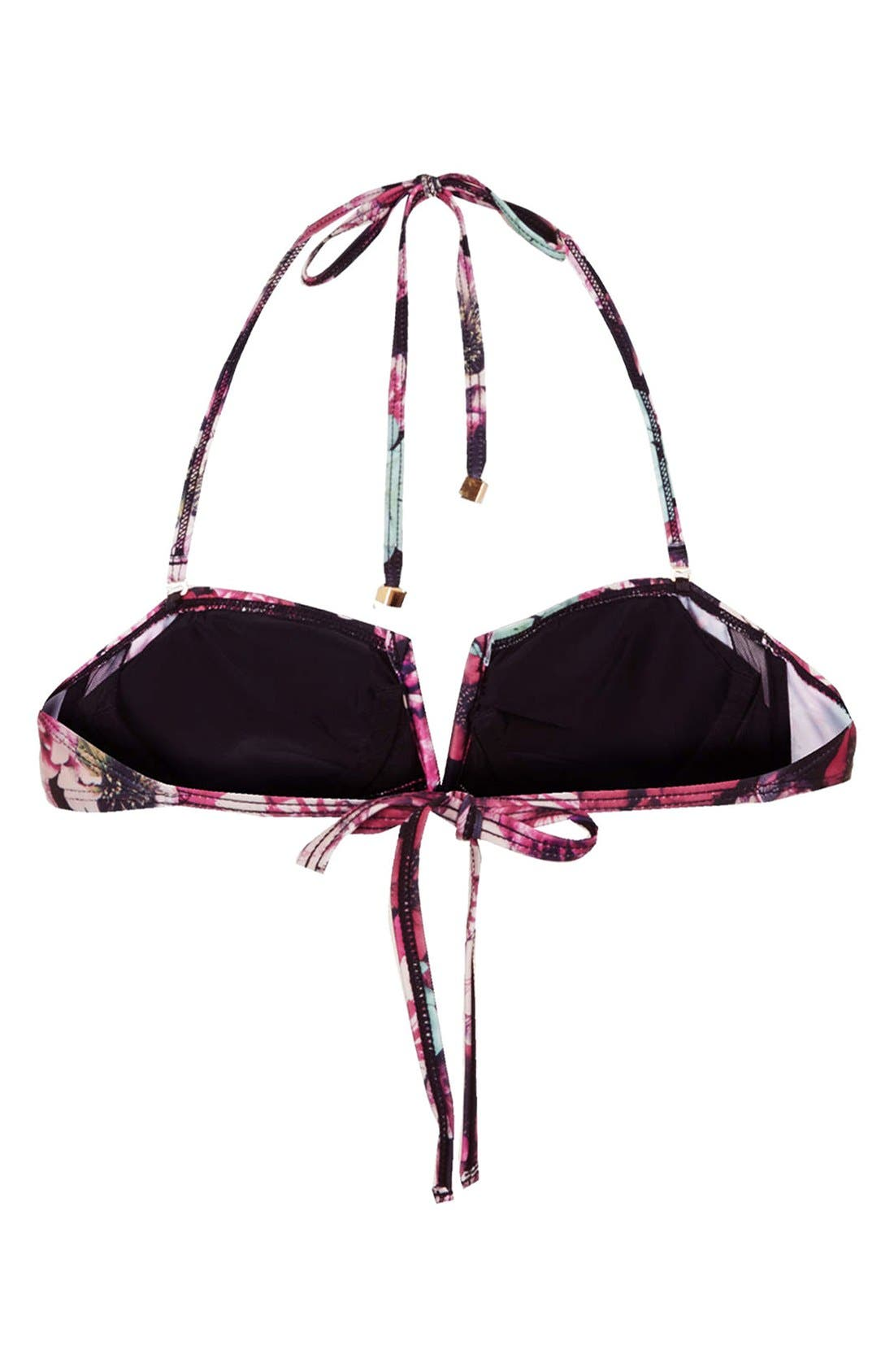 Alternate Image 2  - Topshop 'Mixed Bloom' Floral Print Bandeau Bikini Top