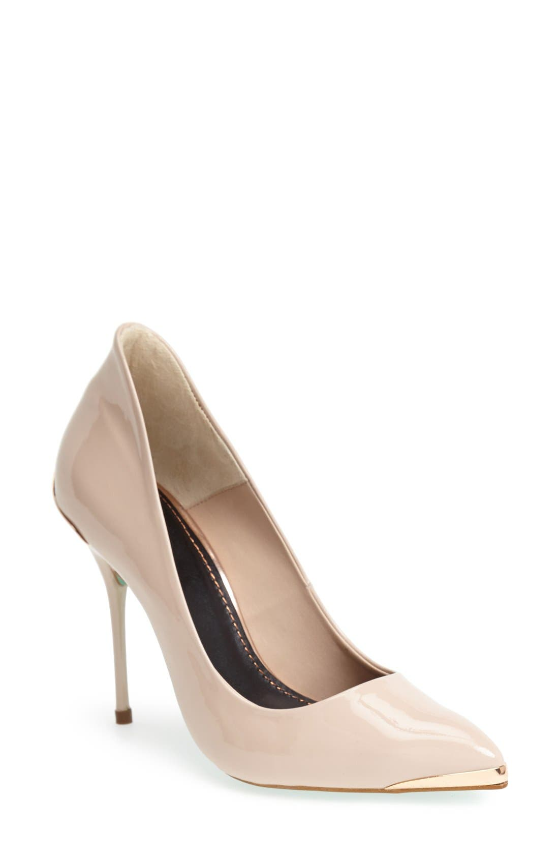 Alternate Image 1 Selected - Topshop by CJG 'High Pitch' Patent Leather Pump (Women)
