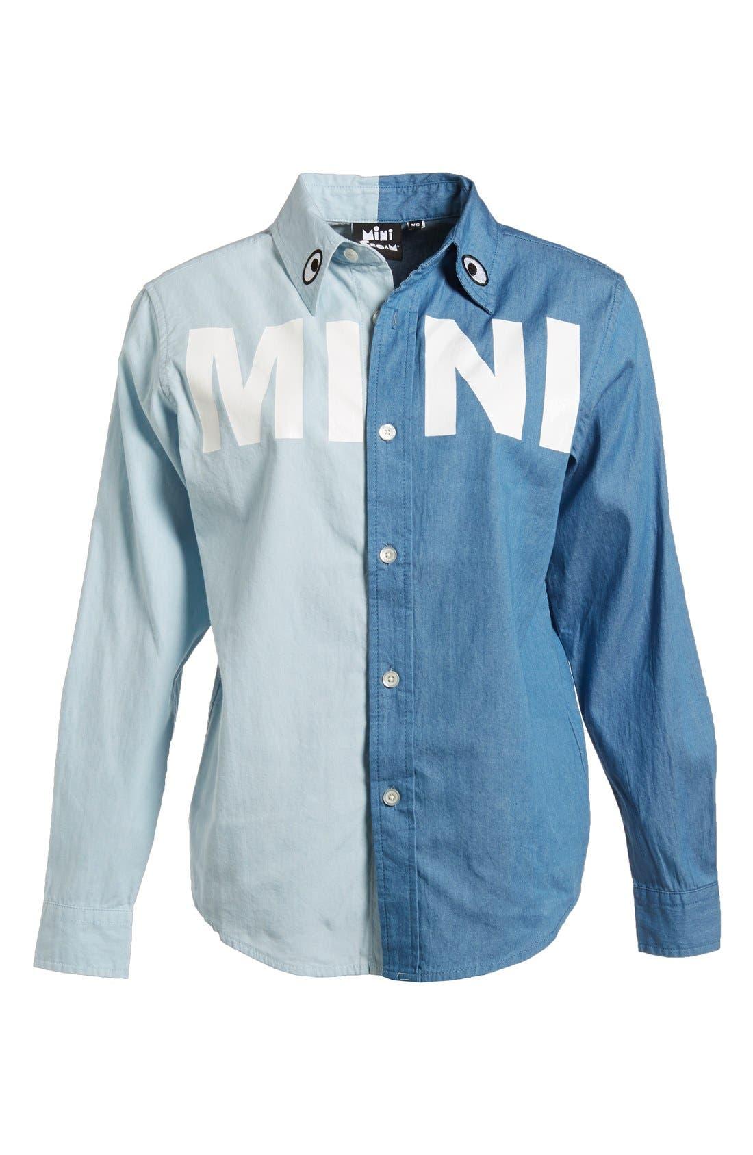 Main Image - Mini Cream 'Mini Wish' Two-Tone Chambray Shirt (Women)