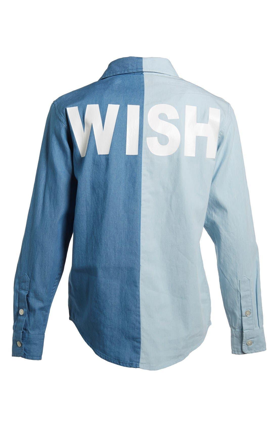 Alternate Image 7  - Mini Cream 'Mini Wish' Two-Tone Chambray Shirt (Women)