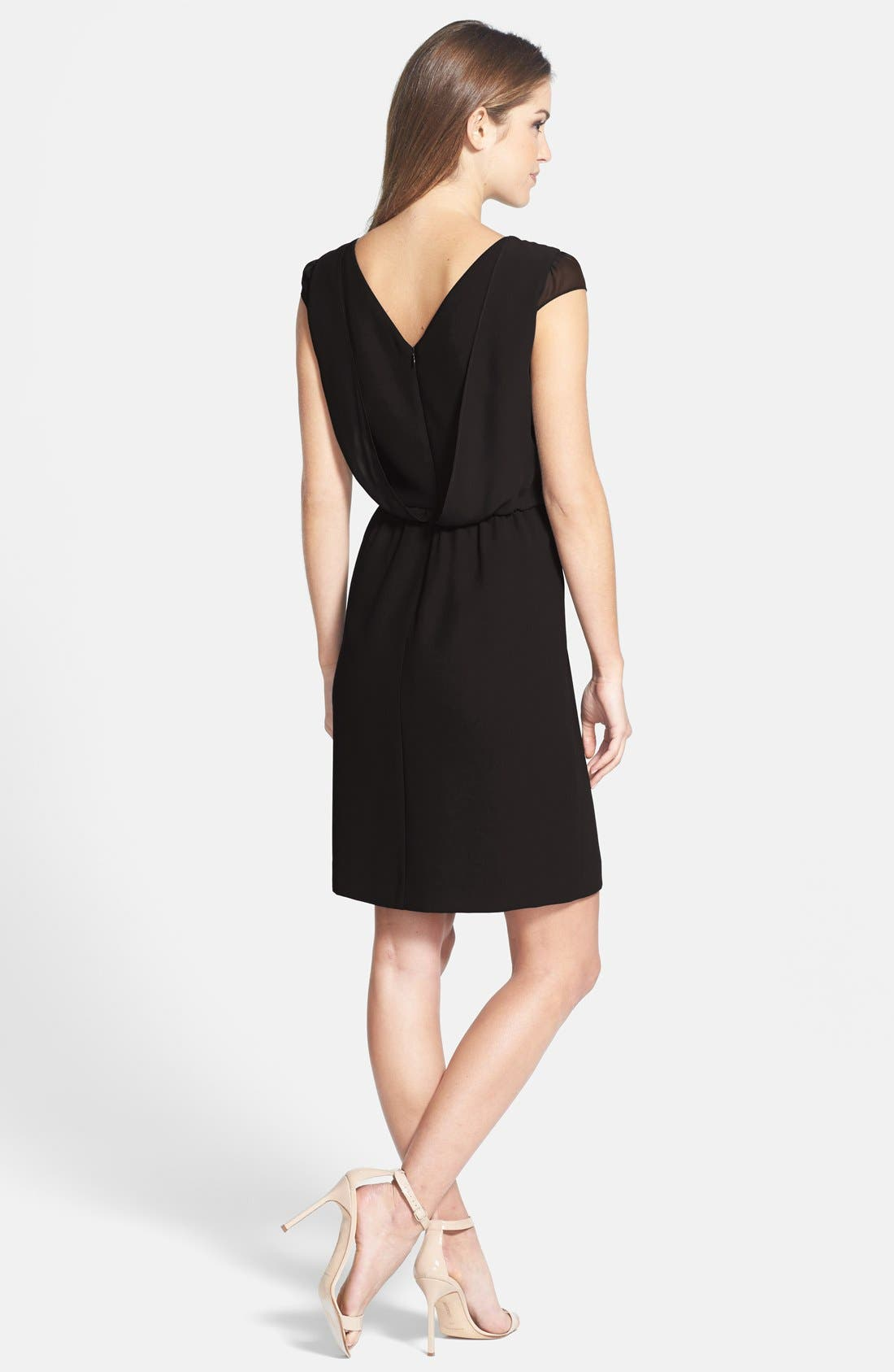 Alternate Image 2  - Marc New York by Andrew Marc Crepe Fit & Flare Dress
