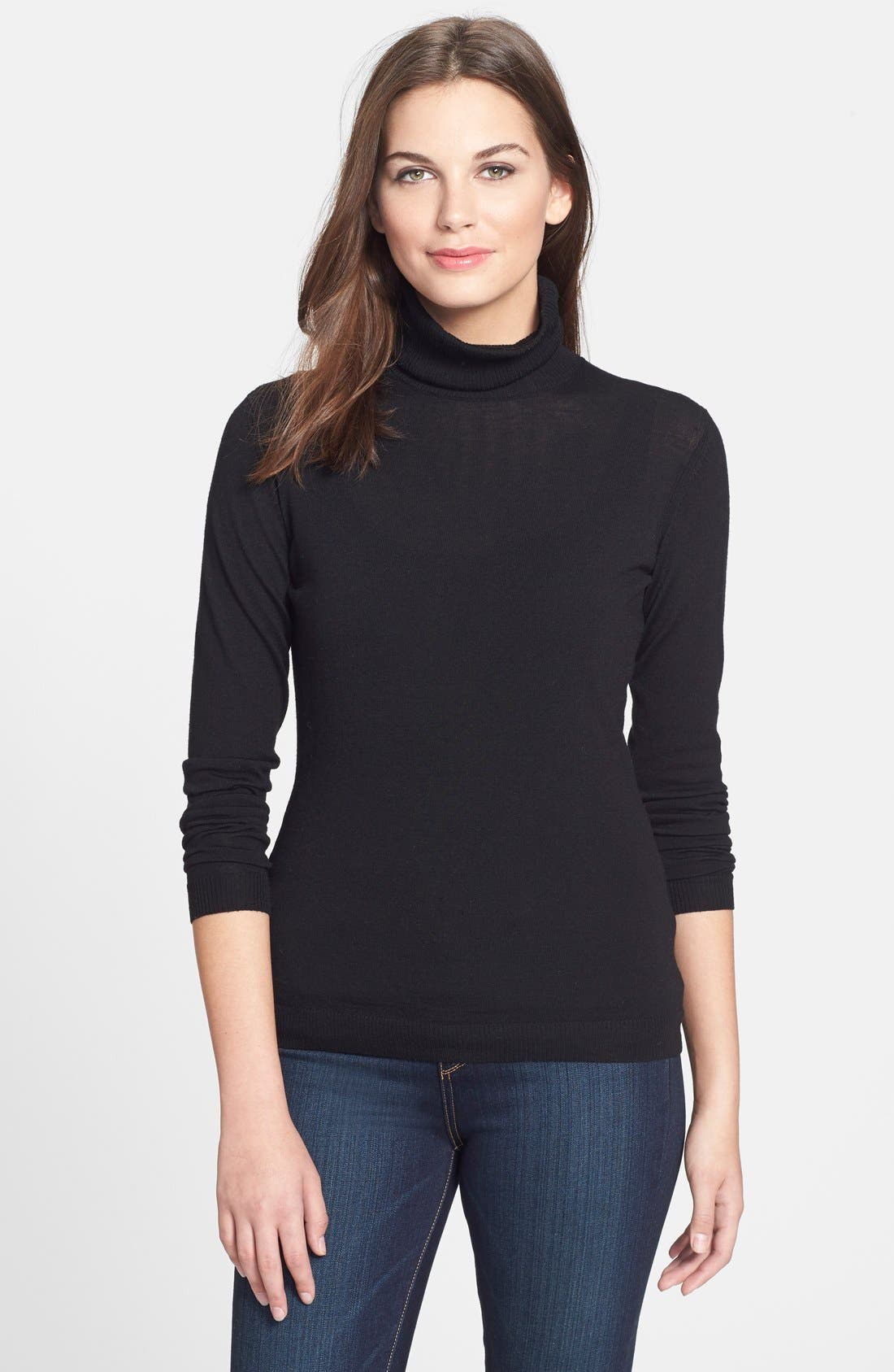 Alternate Image 1 Selected - Lafayette 148 New York Fine Gauge Turtleneck