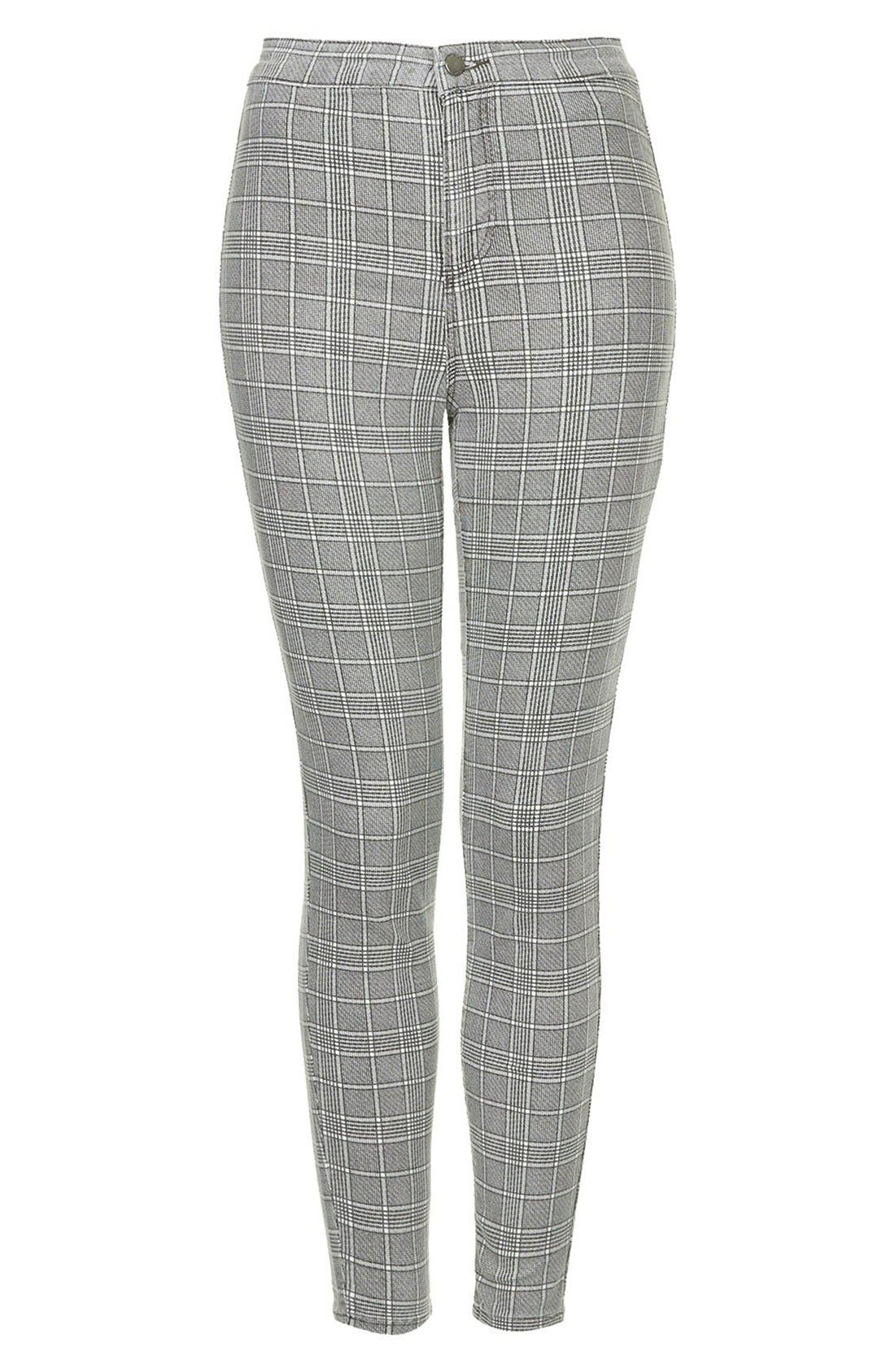 Alternate Image 3  - Topshop Moto 'Joni' Prince of Wales Plaid High Rise Skinny Jeans (Regular & Short)