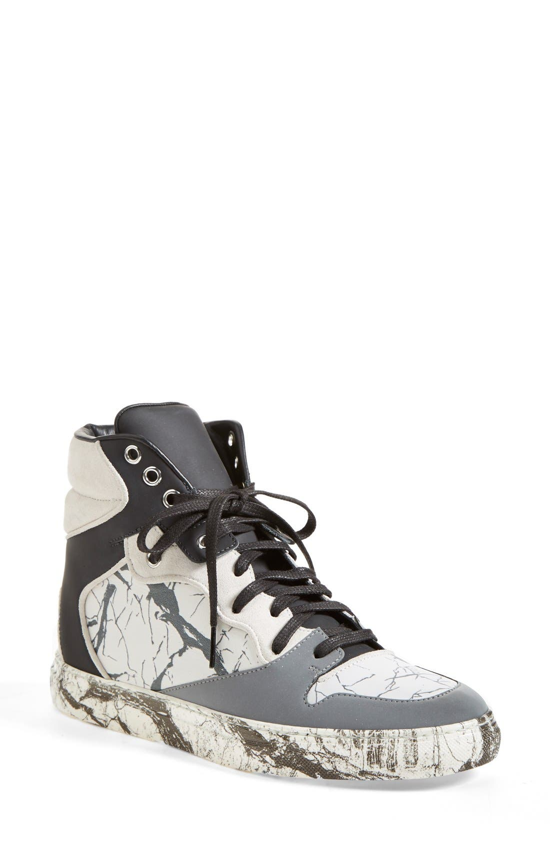 Alternate Image 1 Selected - Balenciaga Nappa Leather High Top Sneaker (Women)