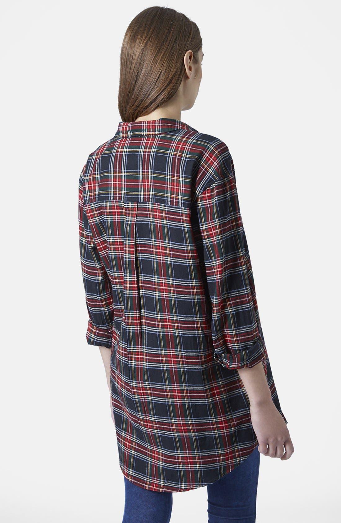 Alternate Image 2  - Topshop 'Ortise Gala' Oversize Check Shirt