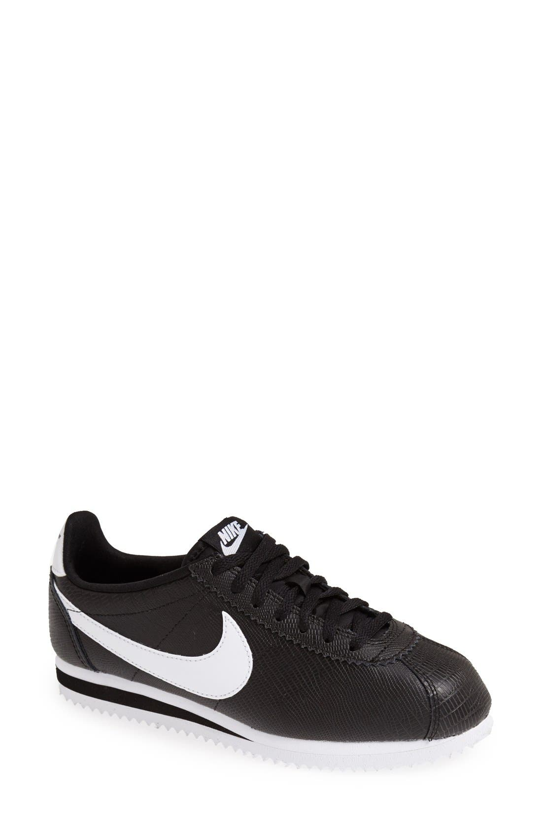 Alternate Image 1 Selected - Nike 'Classic Cortez' Leather Sneaker (Women)