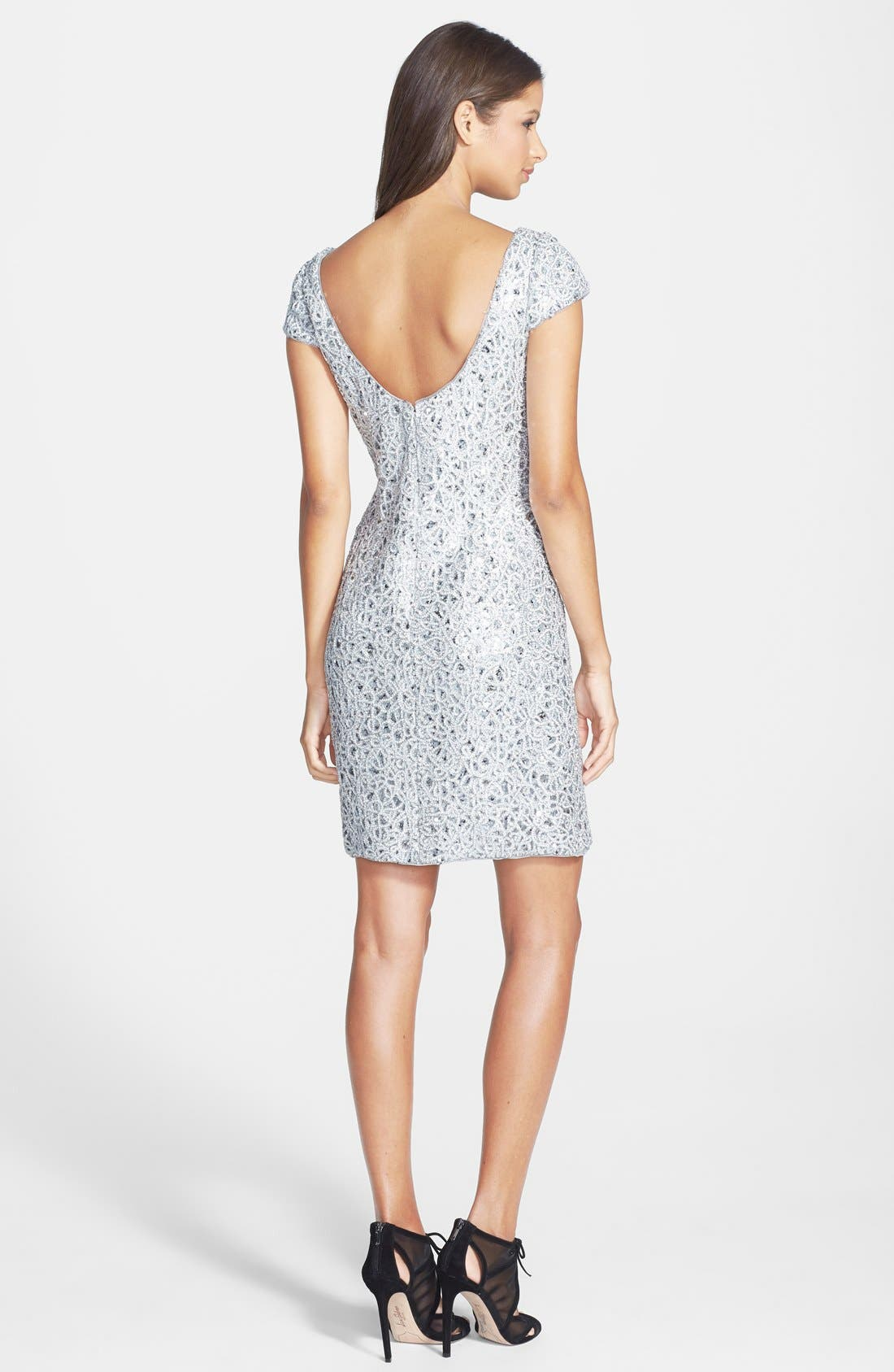 Alternate Image 2  - Hailey by Adrianna Papell Sequin Lace Sheath Dress