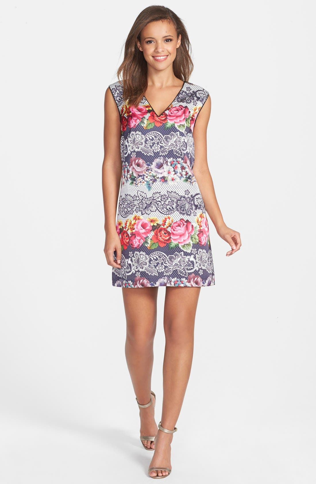Alternate Image 3  - Cynthia Steffe Print Satin Shift Dress