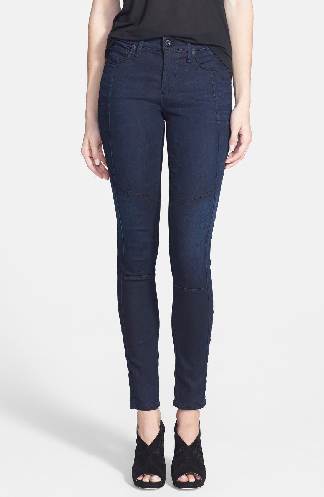 Main Image - True Religion Brand Jeans 'Halle' Moto Jeans (Painful Love)