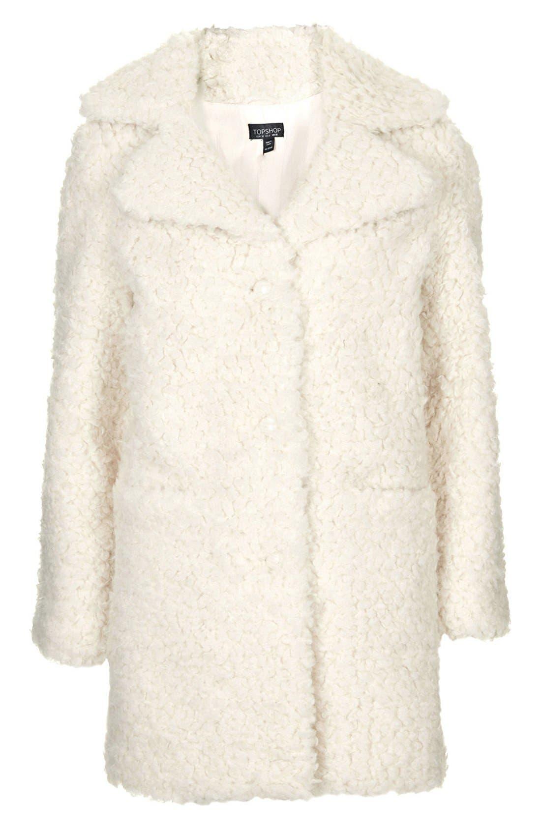 Alternate Image 2  - Topshop Faux Fur Car Coat
