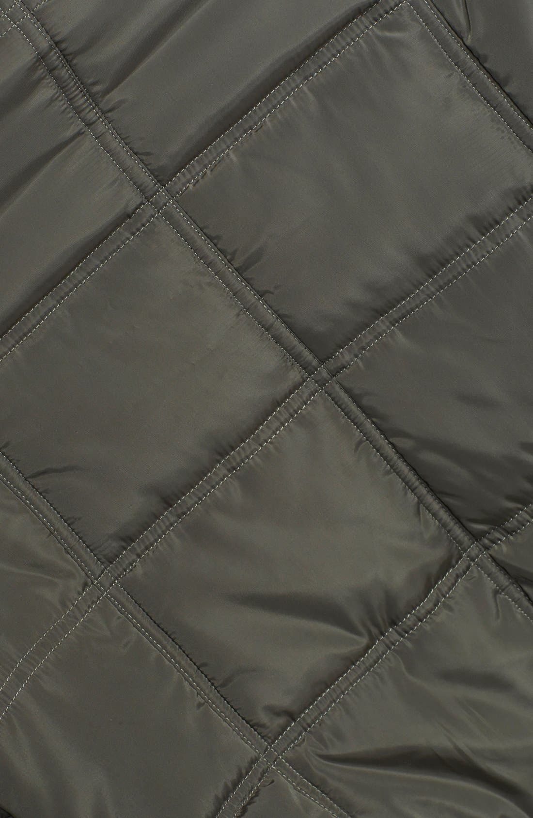 Alternate Image 3  - Thread & Supply Quilted Moto Vest with Faux Fur Collar (Juniors)