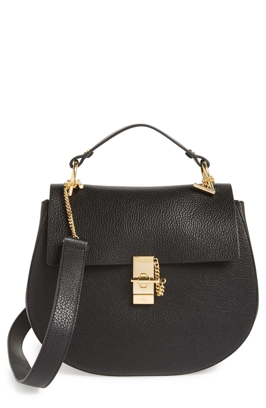 Alternate Image 1 Selected - Chloé 'Drew - Medium' Leather Crossbody Bag