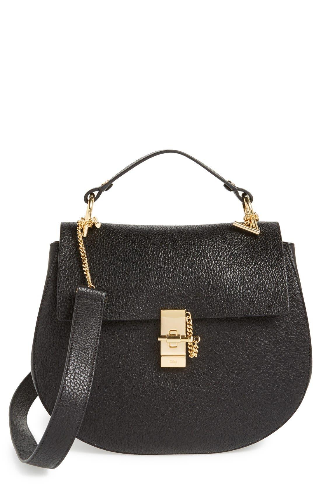 Main Image - Chloé 'Drew - Medium' Leather Crossbody Bag