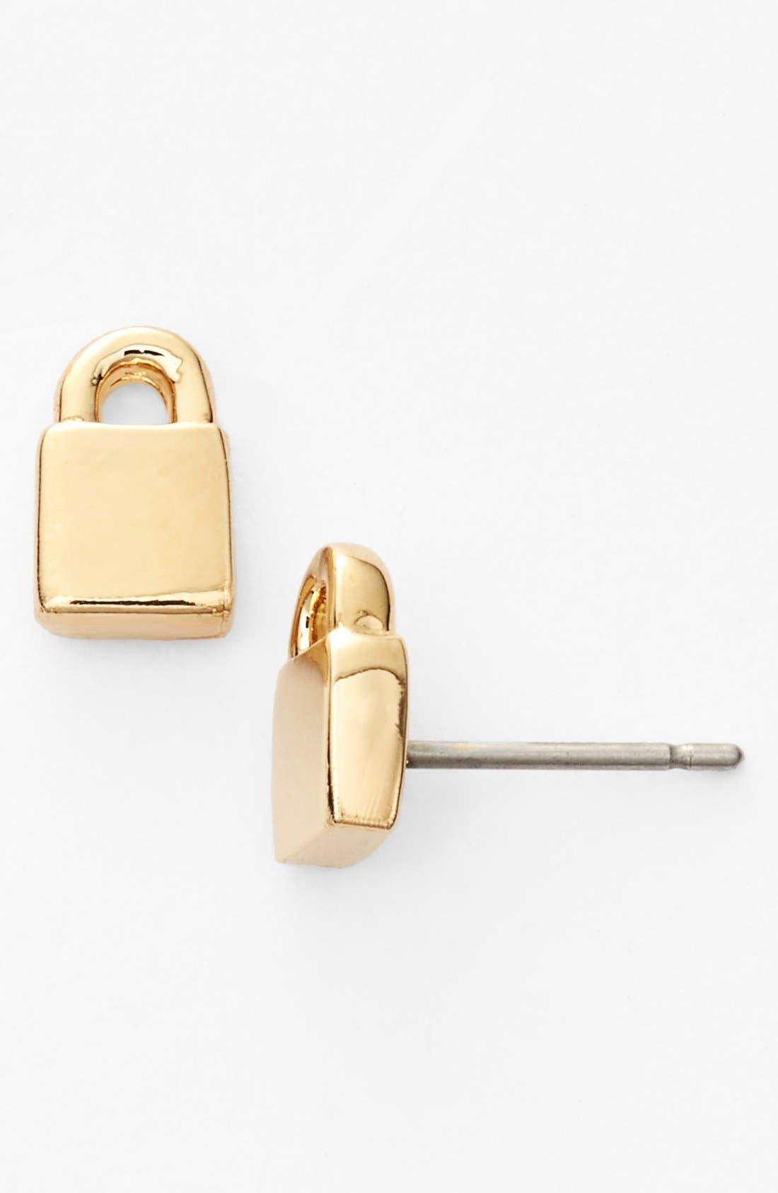 Main Image - MARC BY MARC JACOBS 'Locked in Orbit' Lock Stud Earrings