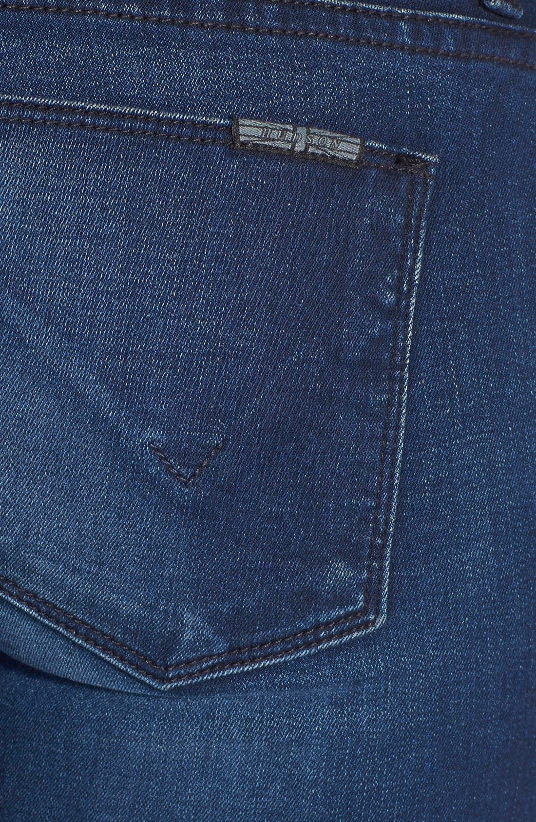Alternate Image 3  - Hudson Jeans 'Krista' Super Skinny Crop Jeans (Contrary)