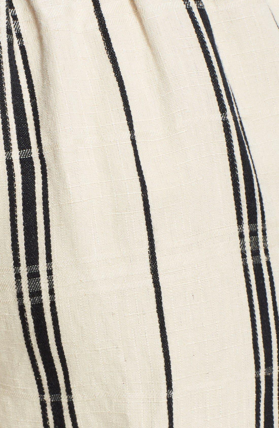 Alternate Image 3  - Tory Burch 'Carrie' Stripe Silk Blend Wide Leg Crop Pants