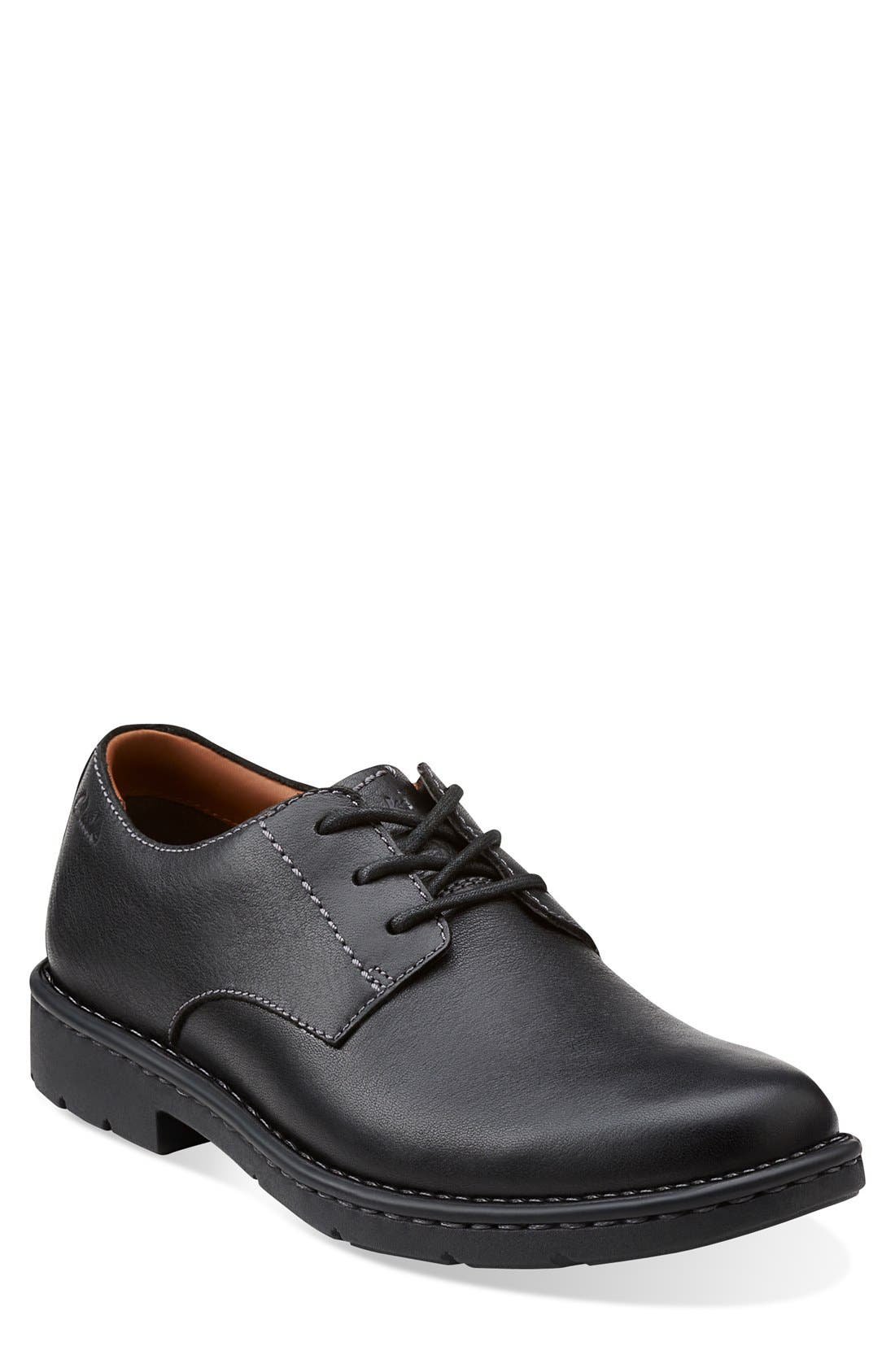 Clarks® 'Stratton - Way' Plain Toe Derby (Men)