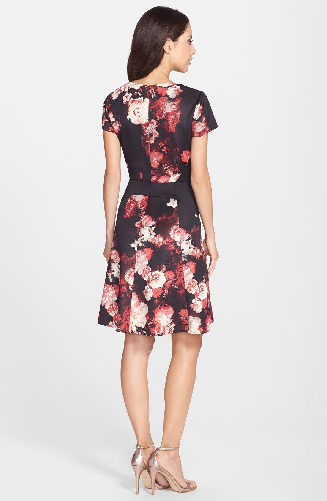 Alternate Image 2  - Adrianna Papell Print Scuba Fit & Flare Dress