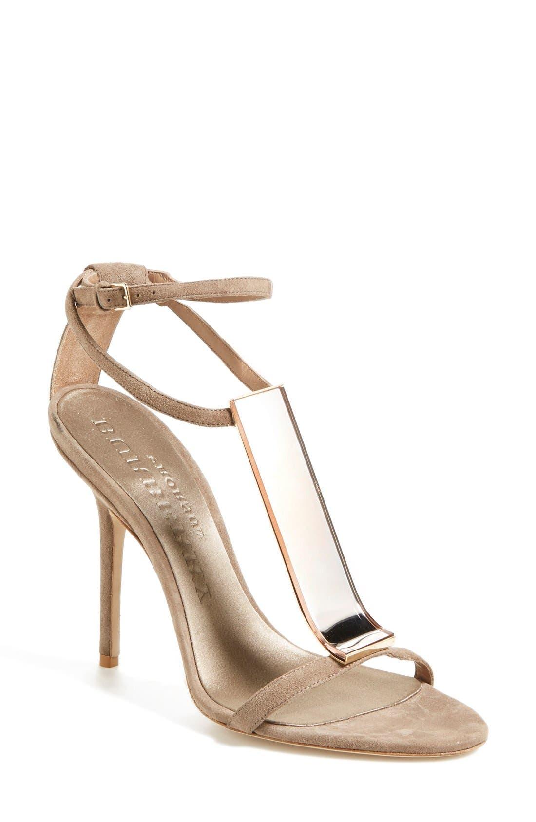 Alternate Image 1 Selected - Burberry 'Irving' Perspex® T-Bar Sandal (Women)
