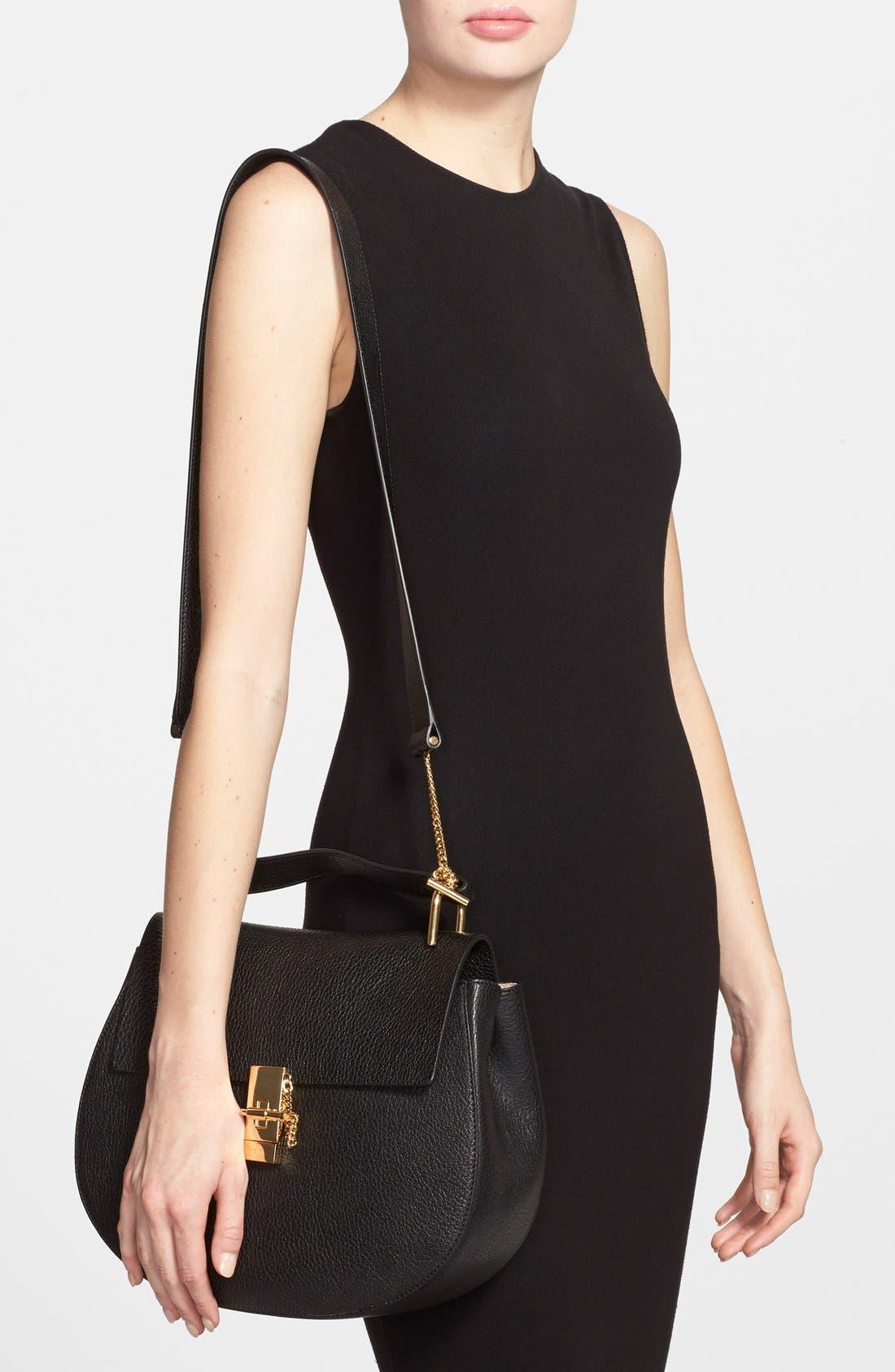 Alternate Image 2  - Chloé 'Drew - Medium' Leather Crossbody Bag
