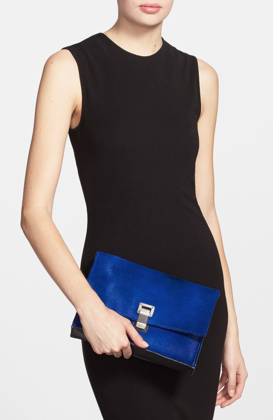 Alternate Image 2  - Proenza Schouler 'Lunch Bag - Small' Shearling & Leather Clutch