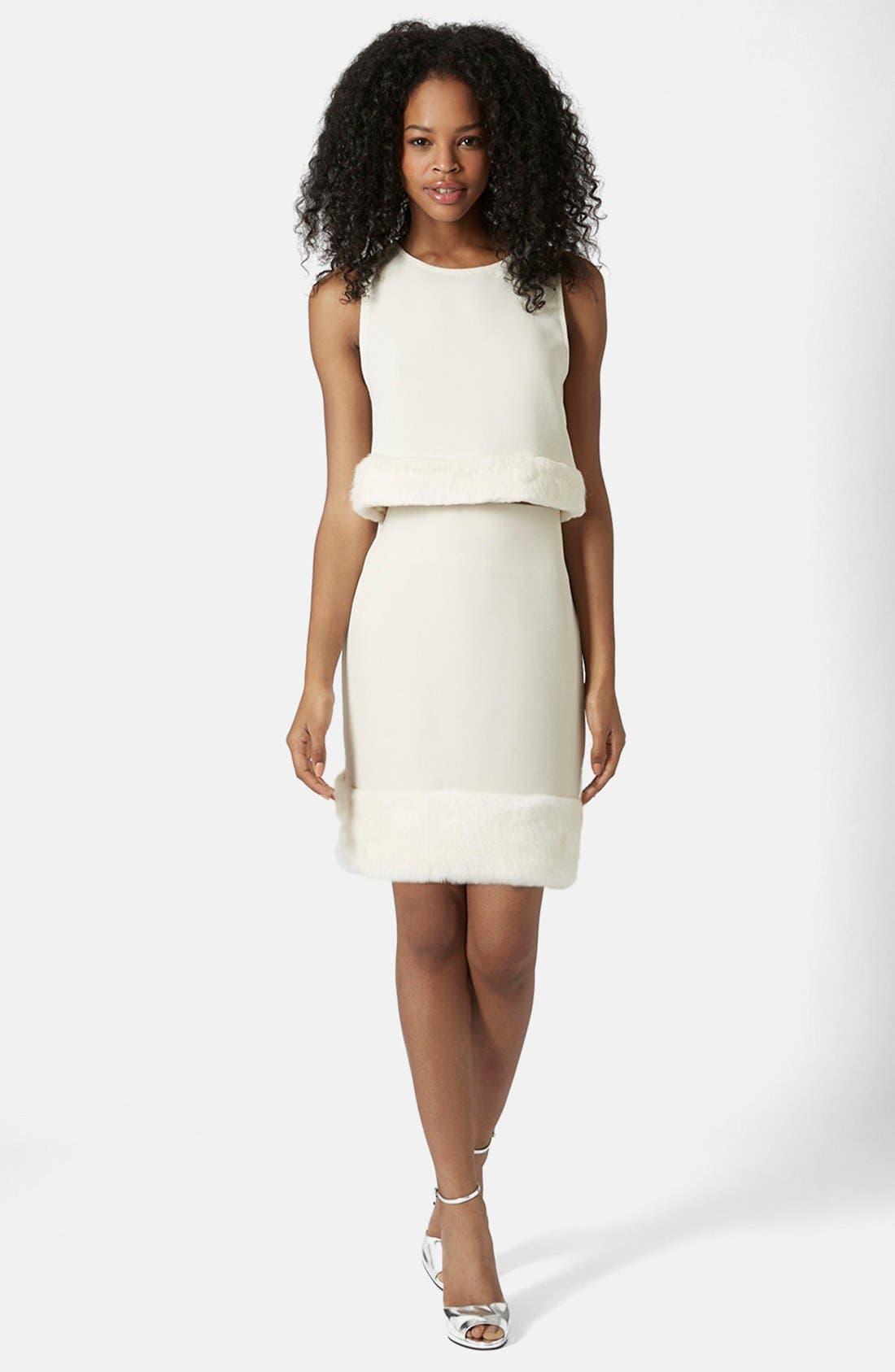 Alternate Image 5  - Topshop Faux Fur Hem Miniskirt