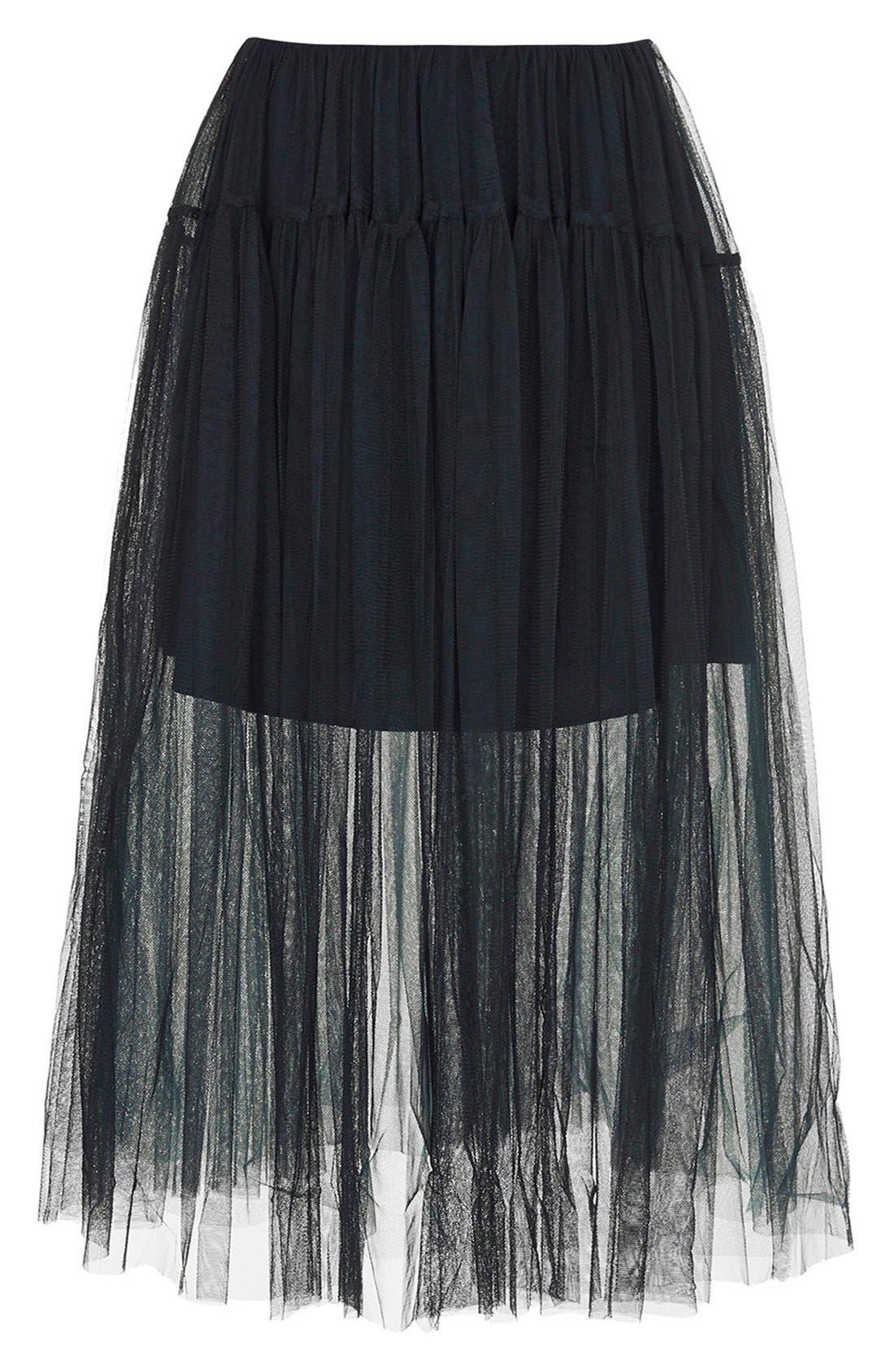 Alternate Image 3  - Topshop Layered Mesh Skirt