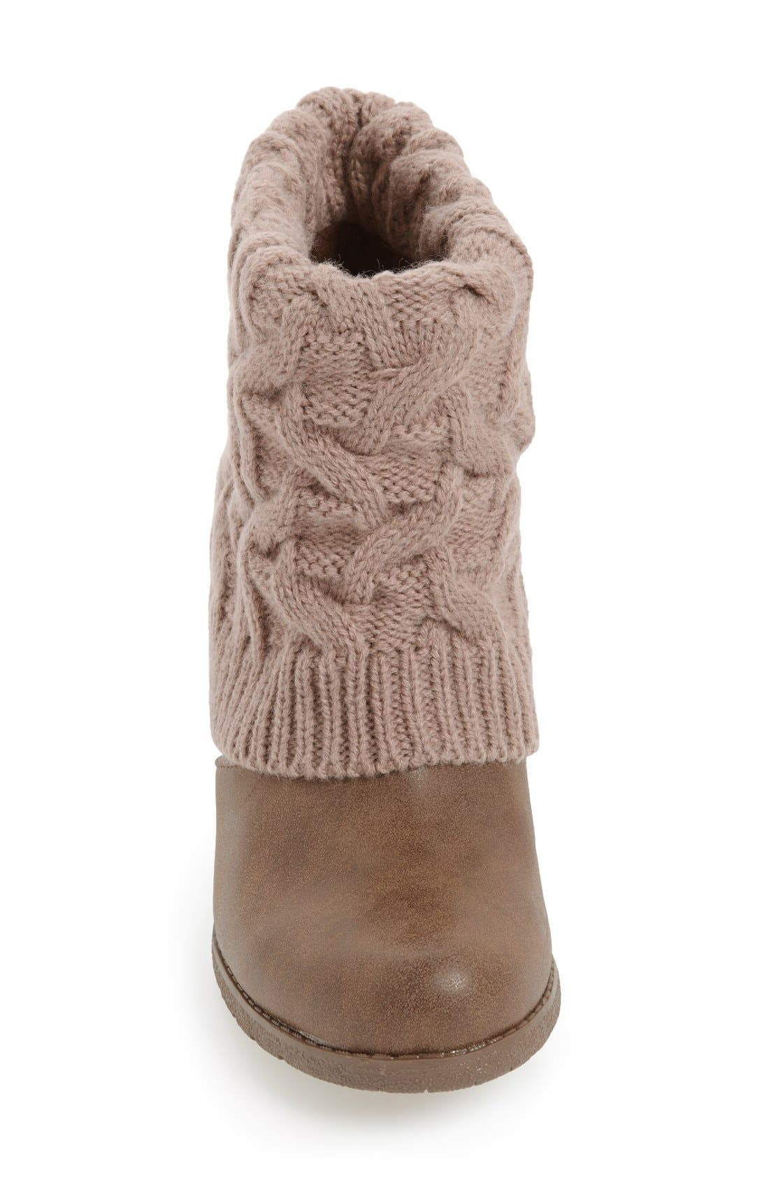 Alternate Image 2  - MUK LUKS 'Chris' Knit Cuff Bootie (Women)