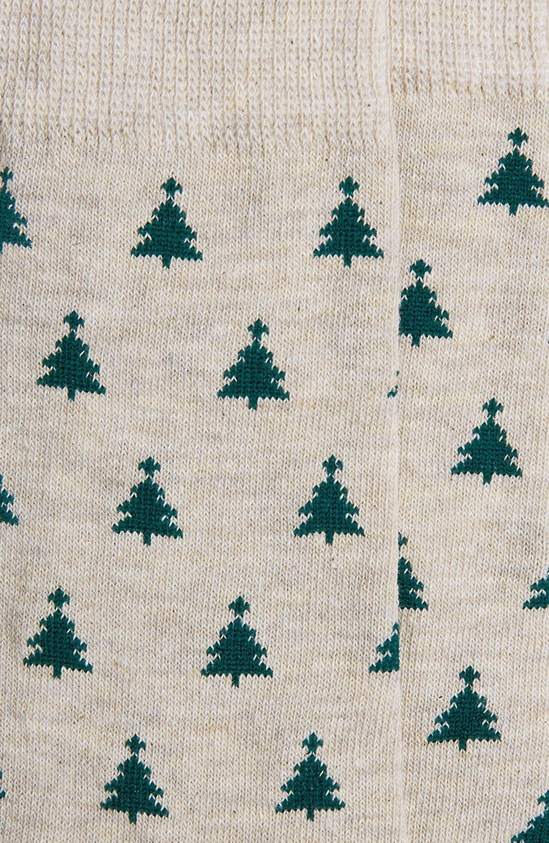 Alternate Image 2  - Topman Christmas Tree Pattern Socks