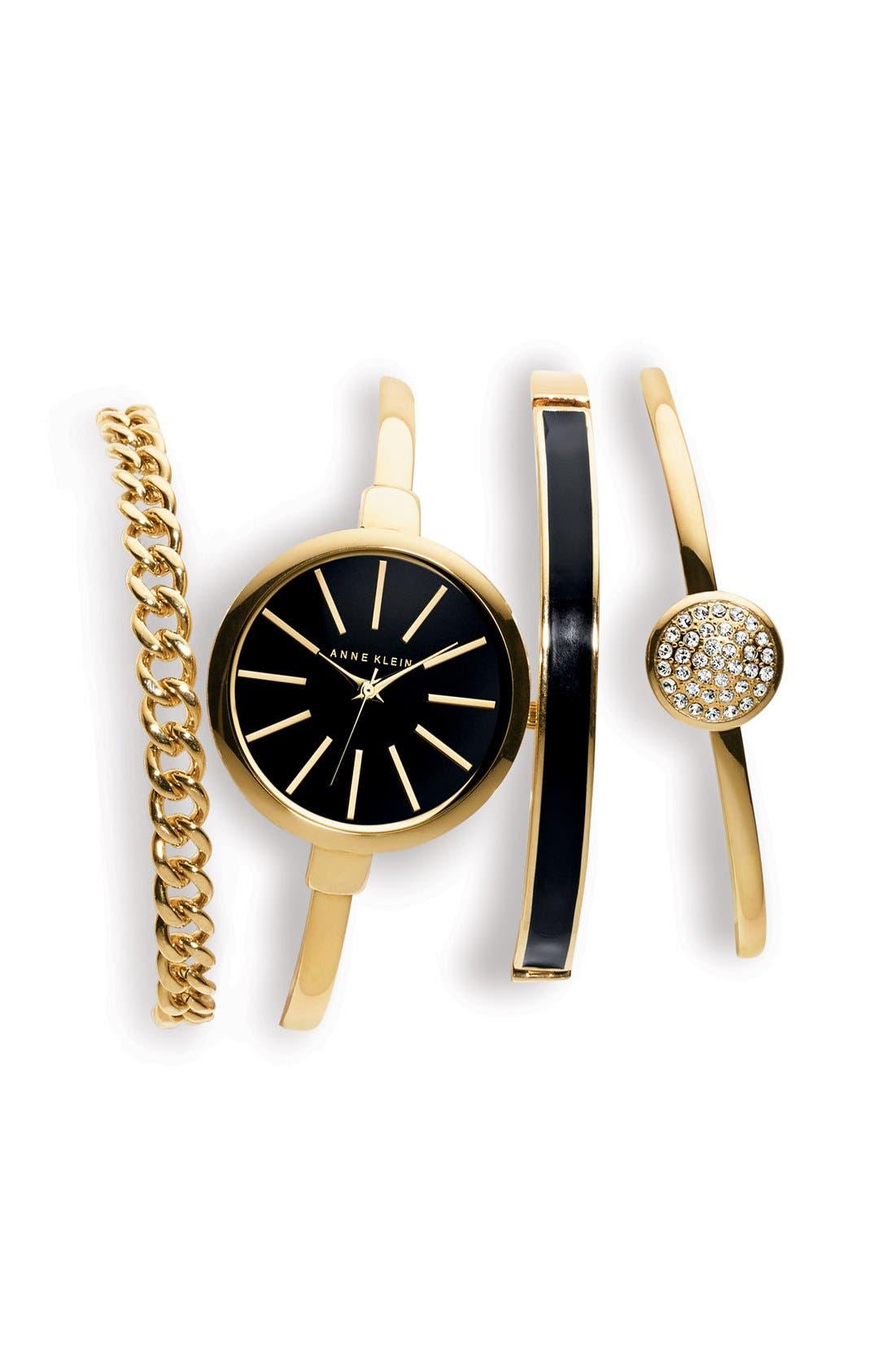 Alternate Image 4  - Anne Klein Boxed Bracelet & Bangle Watch Set, 32mm