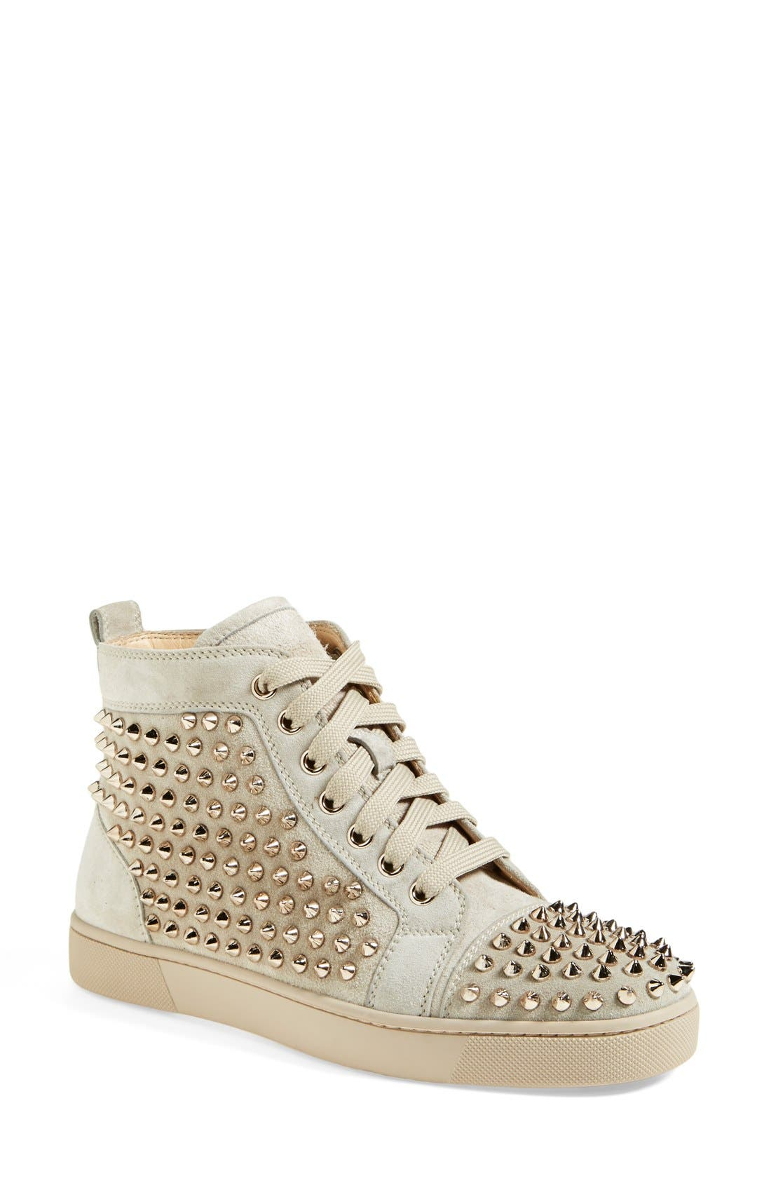 Alternate Image 1 Selected - Christian Louboutin 'Louis' Spiked Sneaker