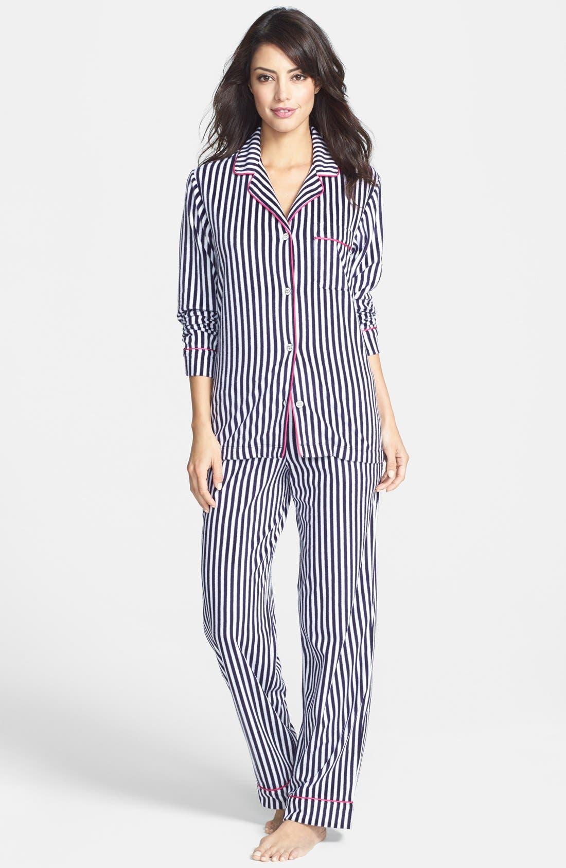 Alternate Image 4  - DKNY Long Sleeve Microfleece Pajamas