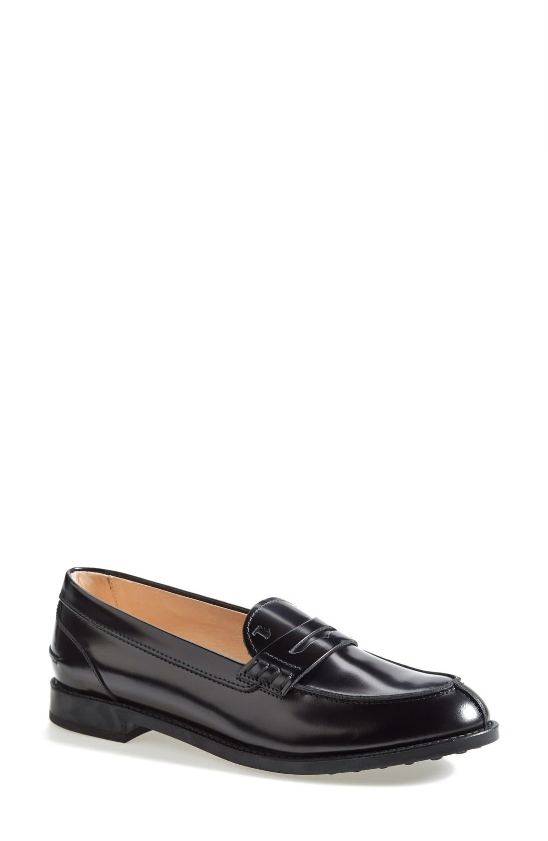 Alternate Image 1 Selected - Tod's 'Classic' Leather Loafer (Women)
