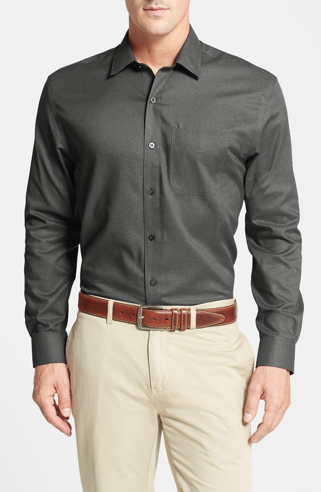 Cutter & Buck 'Epic Easy Care' Classic Fit Wrinkle Free Sport Shirt (Big & Tall)