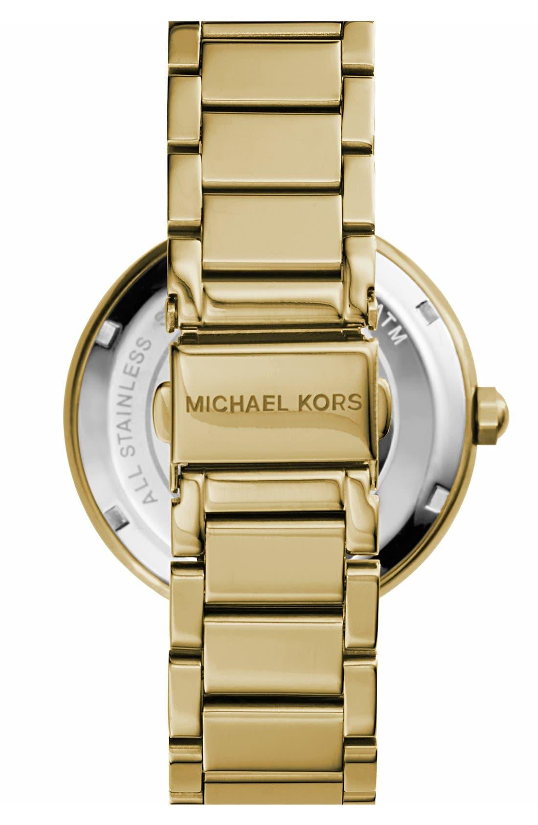 Alternate Image 2  - Michael Kors Parker Logo Dial Bracelet Watch, 39mm