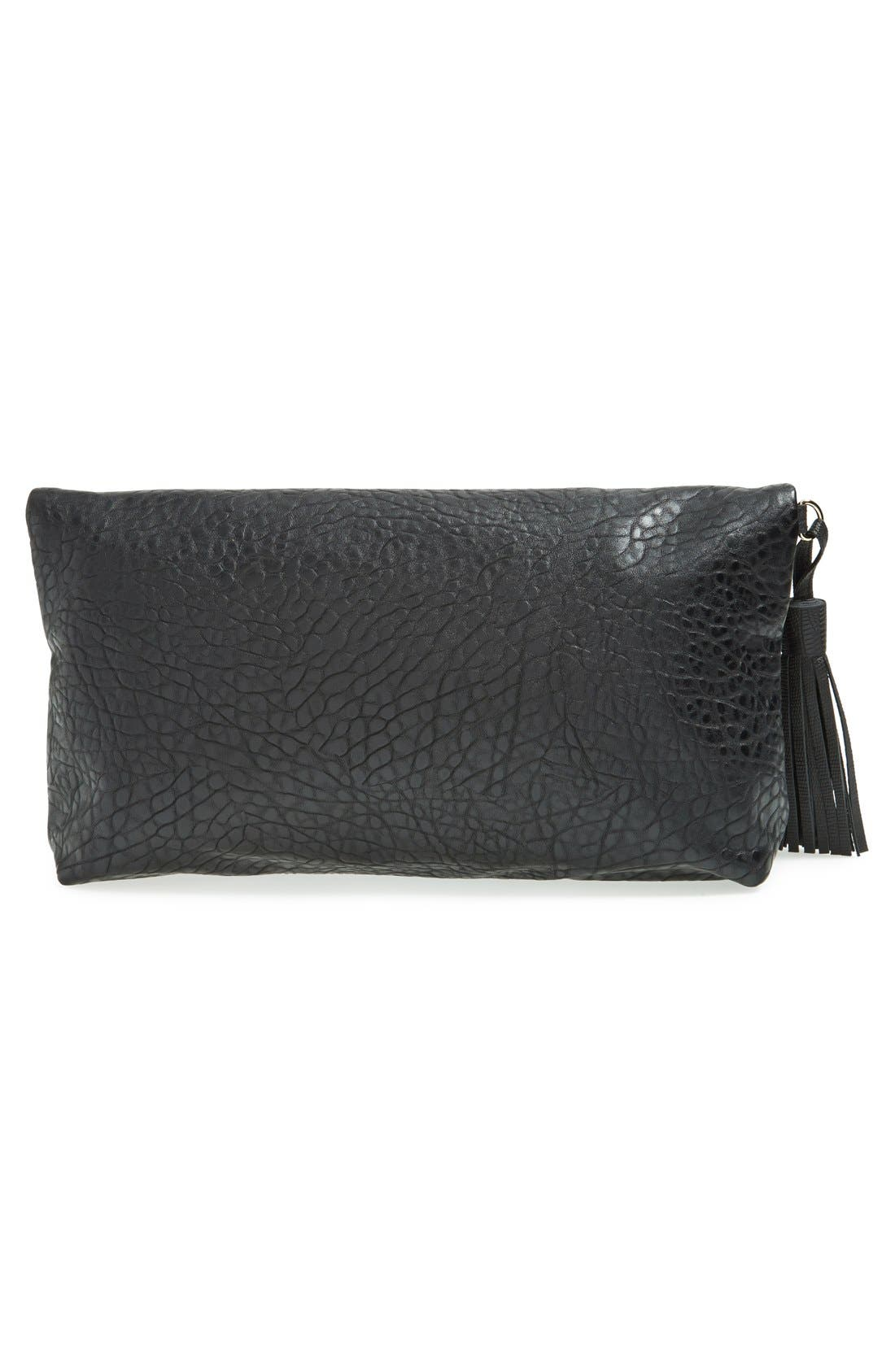Alternate Image 3  - Topshop 'Merino' Faux Leather Foldover Clutch