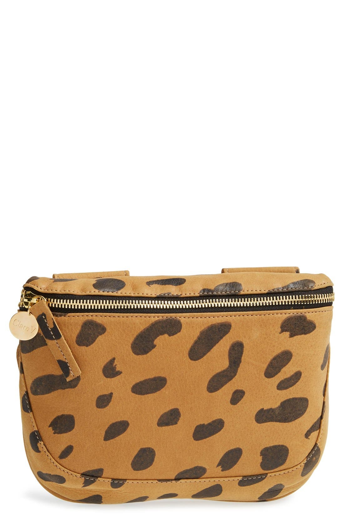 Clare V. 'Fanny Pack' Jaguar Print Leather Belt Bag