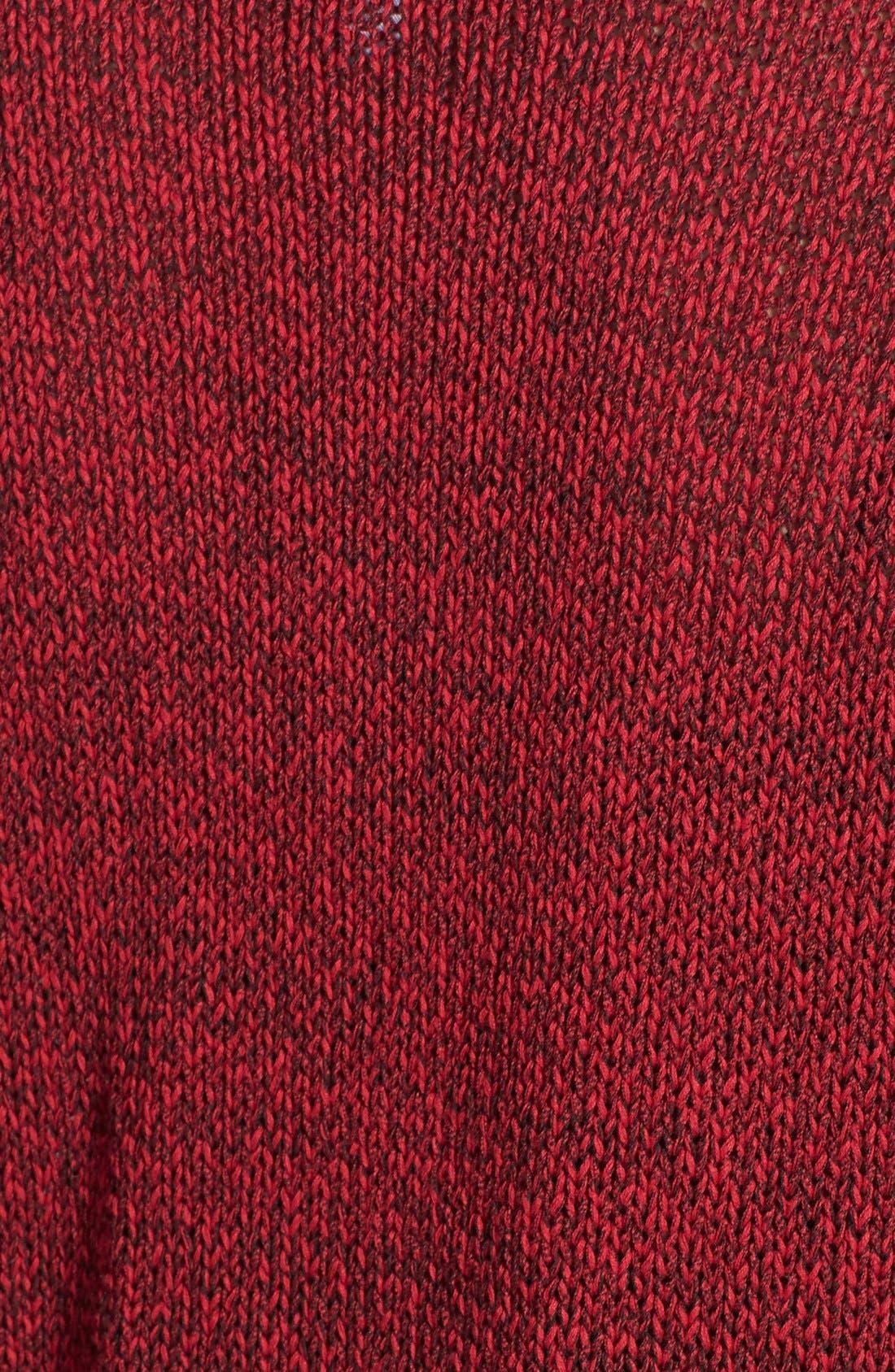 Alternate Image 3  - kensie 'Checker' Tape Yarn Sweater