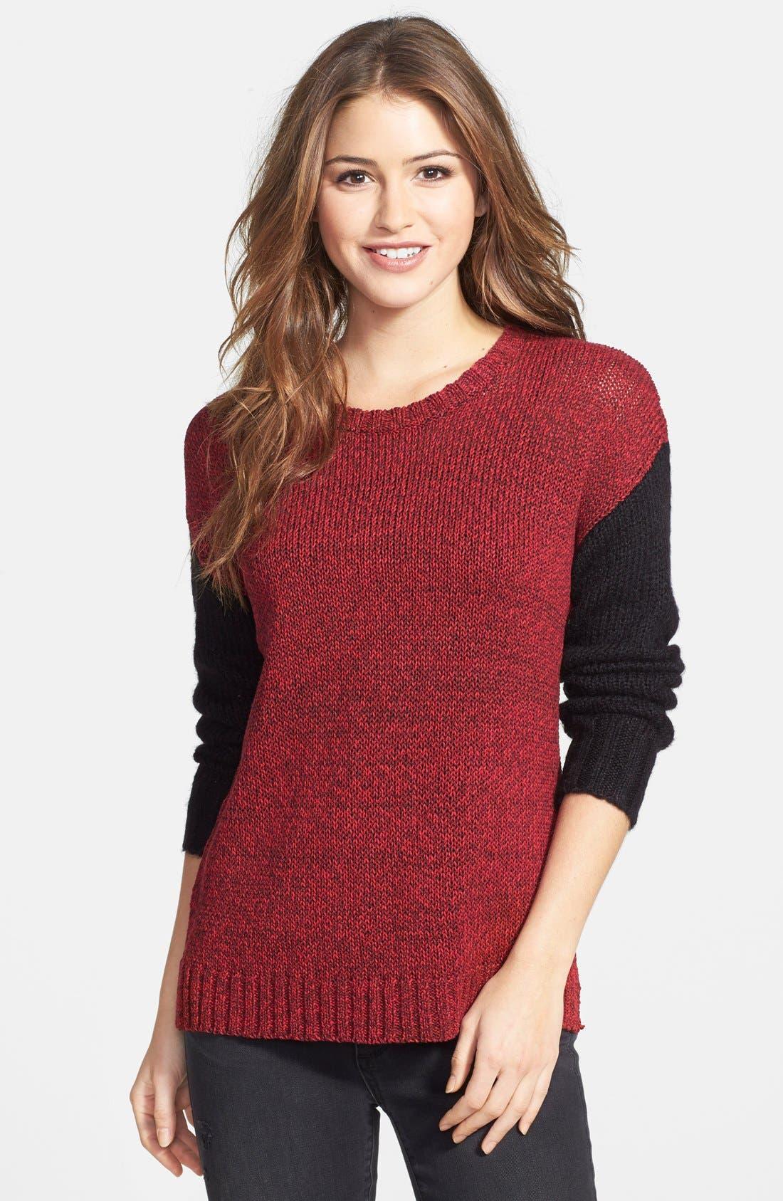 Main Image - kensie 'Checker' Tape Yarn Sweater