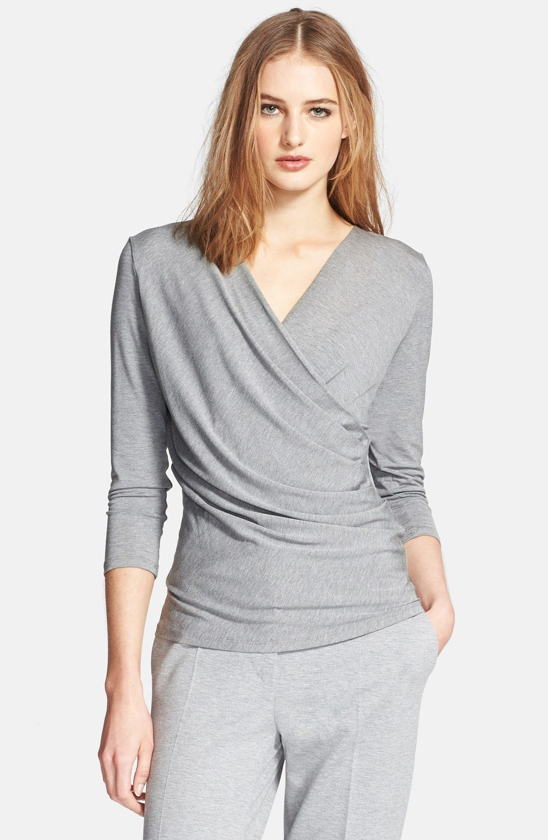 Alternate Image 1 Selected - Max Mara 'Caprice' Faux Wrap Jersey Top