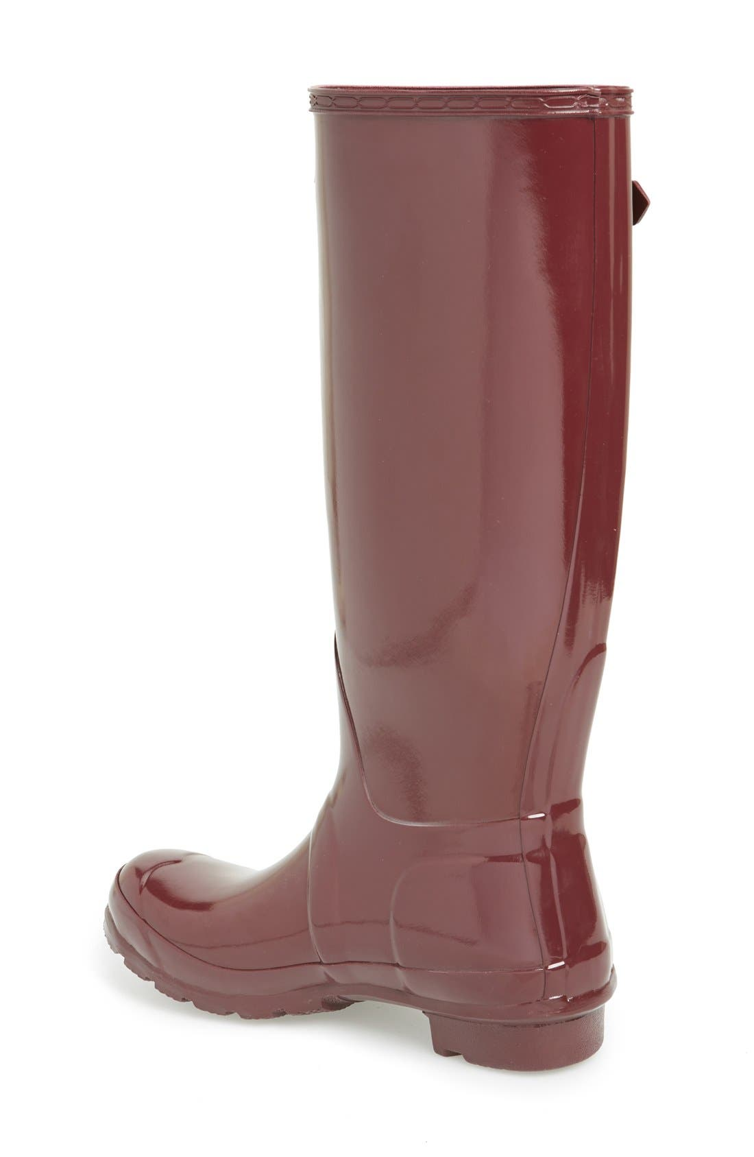 Alternate Image 2  - Hunter Original High Gloss Boot (Women)