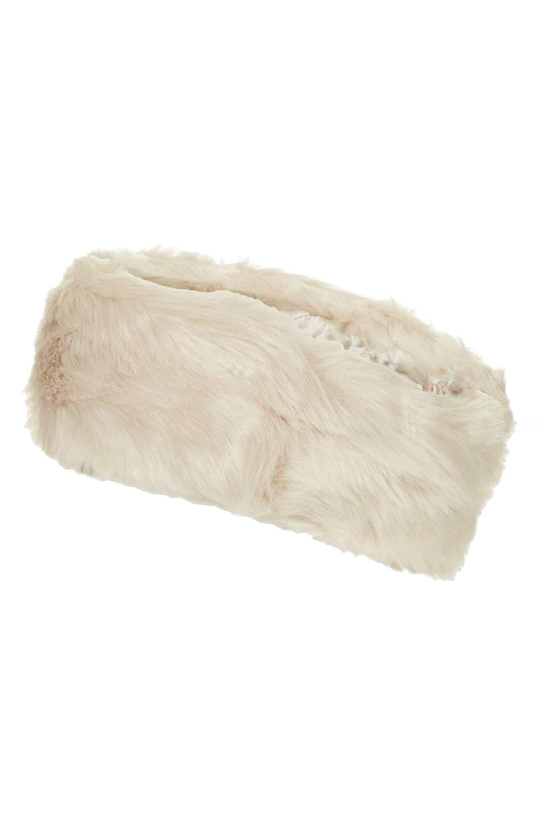 Main Image - Topshop Faux Fur Headband