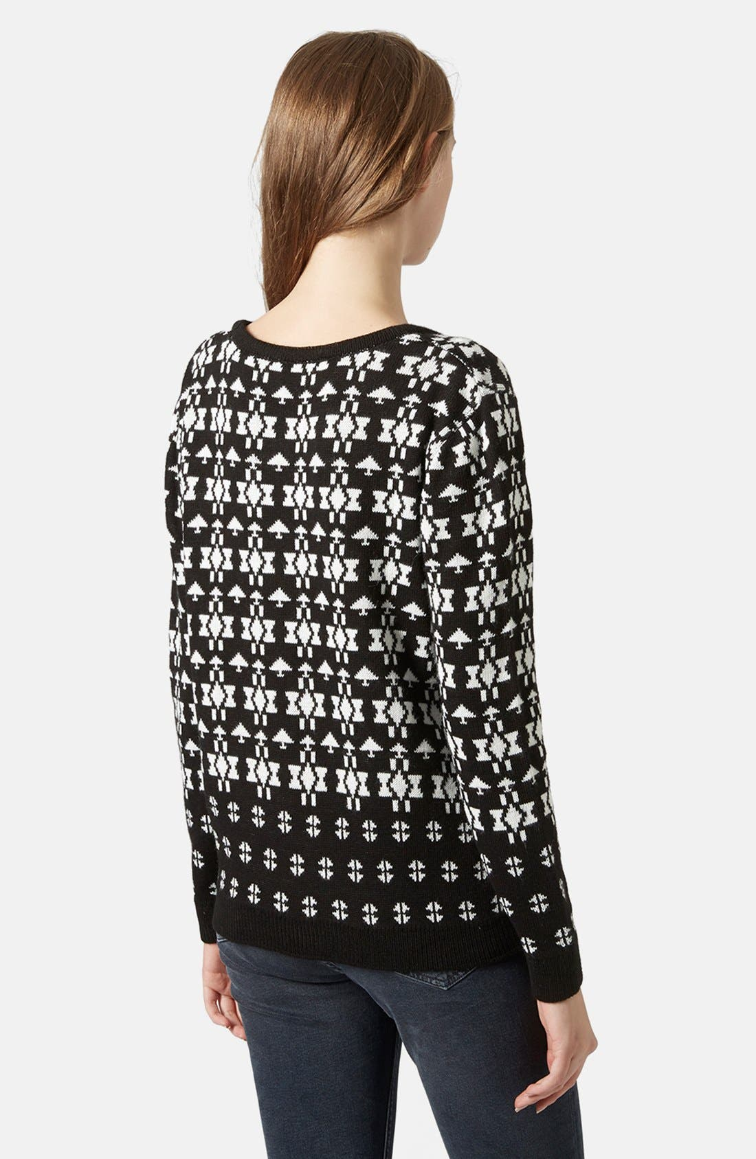 Alternate Image 2  - Topshop Rudolph Fair Isle Sweater