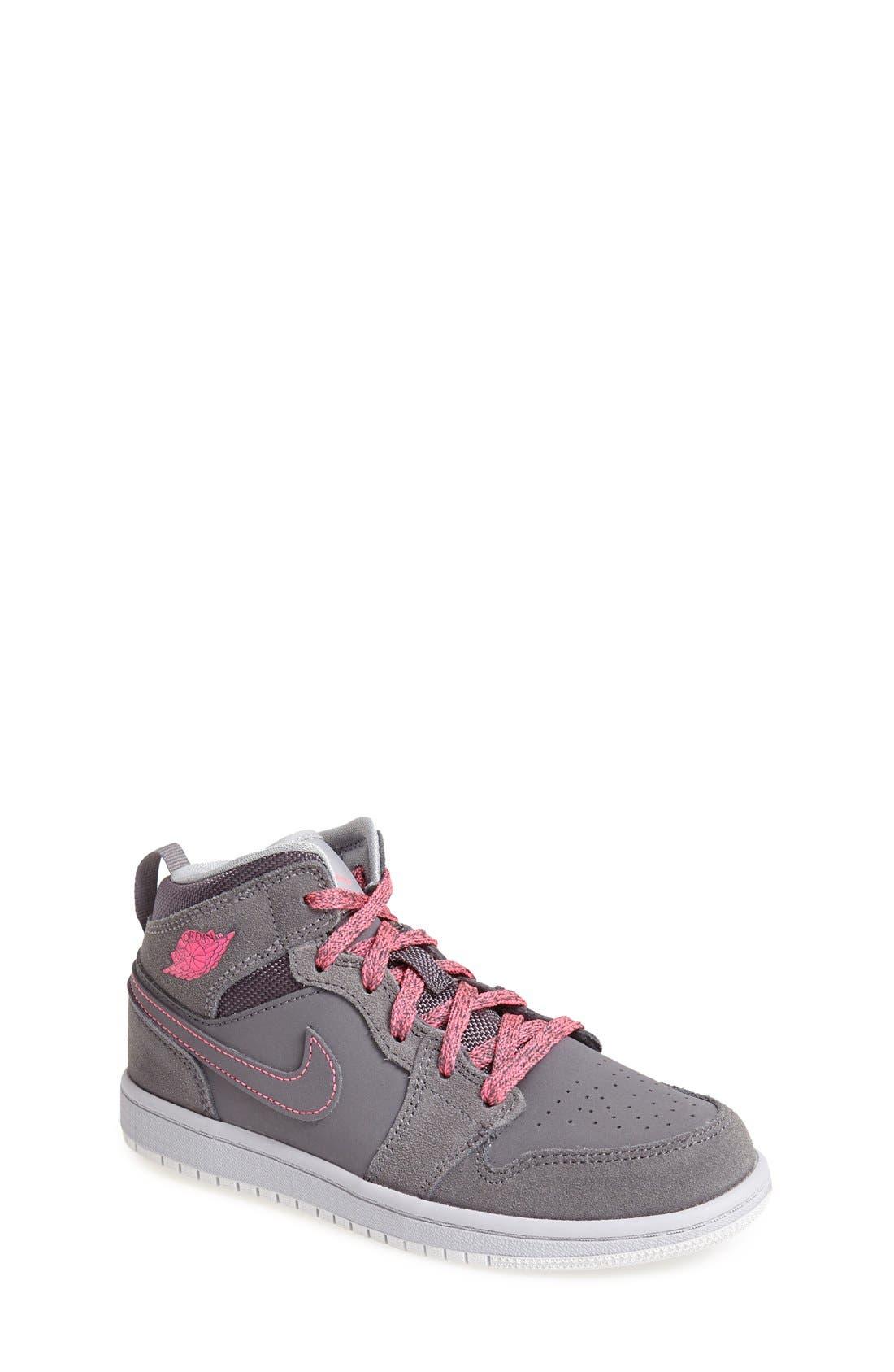 Alternate Image 1 Selected - Nike 'Air Jordan 1 Mid' Sneaker (Toddler & Little Kid)