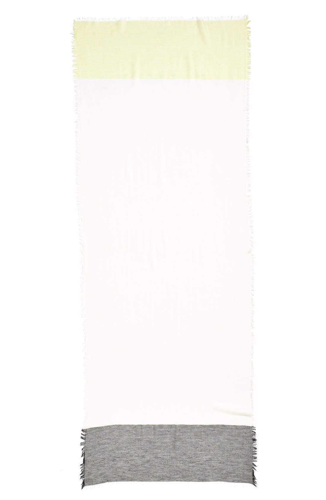 Alternate Image 2  - Nordstrom Colorblock Cashmere & Silk Scarf