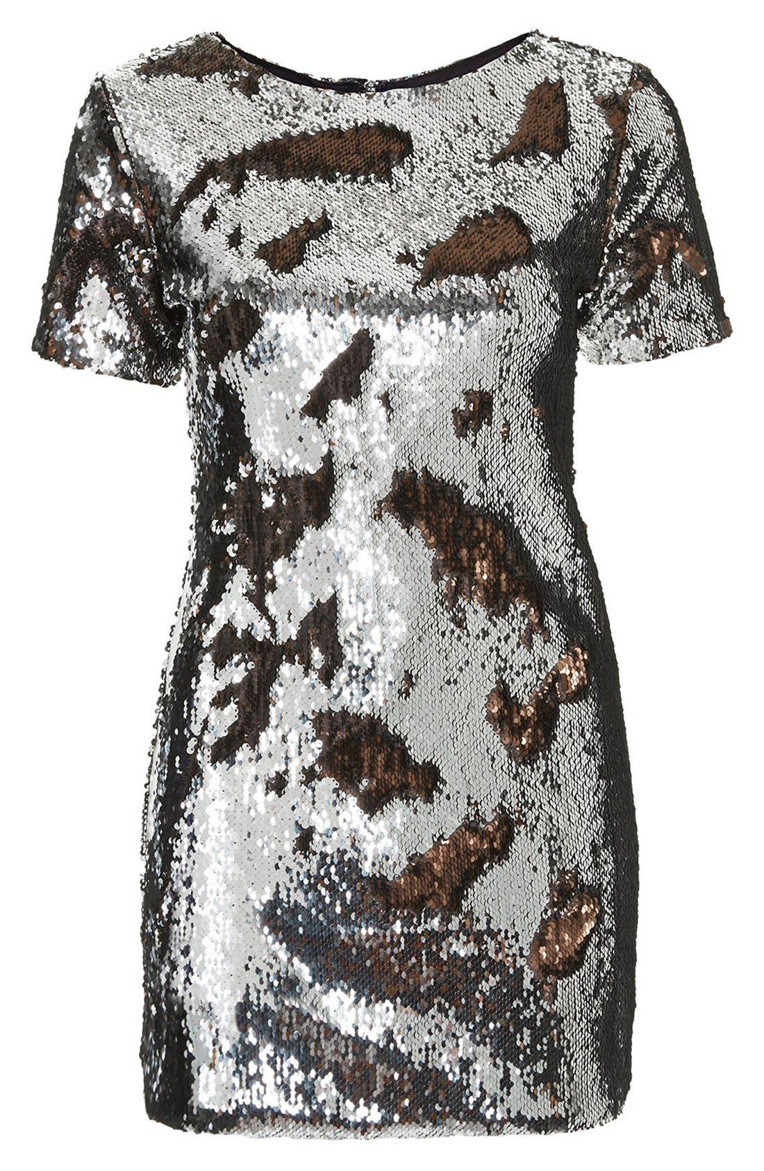 Alternate Image 3  - Topshop Metallic Sequin Body-Con Dress (Regular & Petite)
