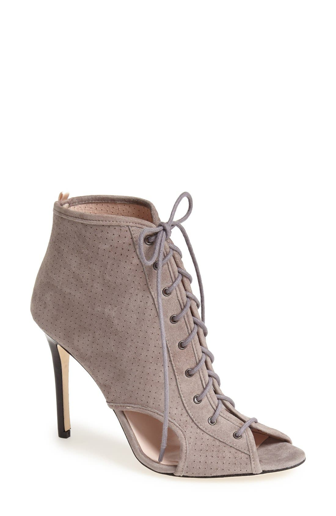 Main Image - SJP 'Marci' Lace-Up Suede Bootie (Women)