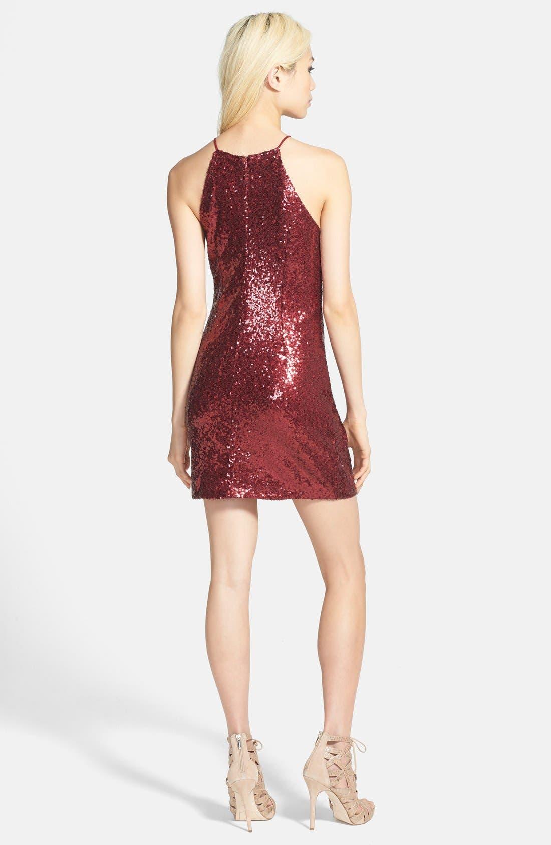 Alternate Image 2  - Glamorous Strappy Sequin Dress