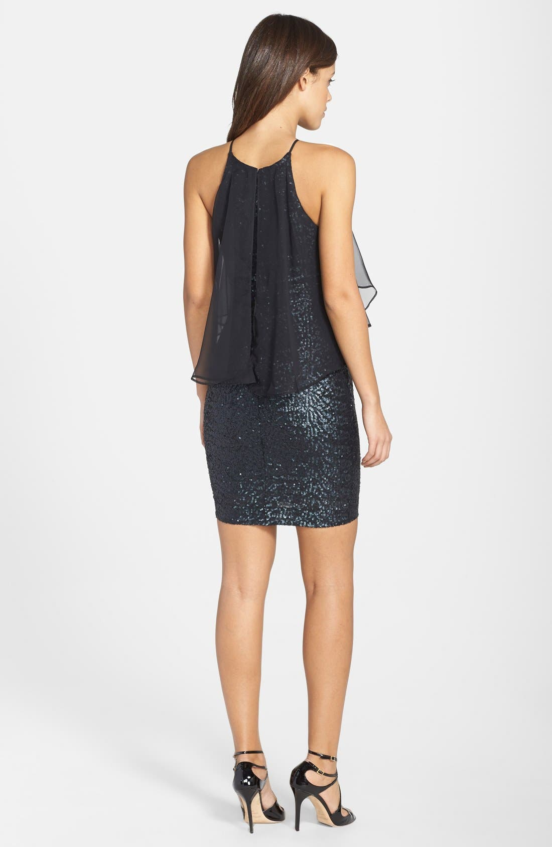Alternate Image 2  - Dress the Population 'Camille' Sequin Popover Minidress